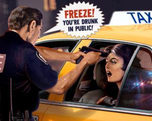 Ashley Watts in taxi